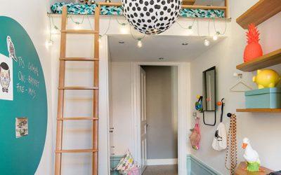 Apartamento é decorado para crianças brincarem