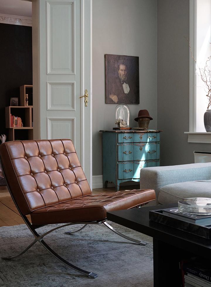 cadeira couro barcelona
