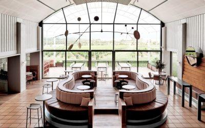 O moderno restaurante Moët Chandon, na Austrália